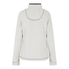 Chrystal 1/4 Zip Stripe Fleece Light Cream