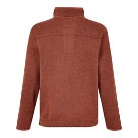 Stowe 1/4 Zip Soft Knit Fleece Brick Orange