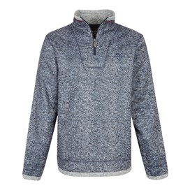 Blyth 1/4 Zip Herringbone Fleece Dark Navy