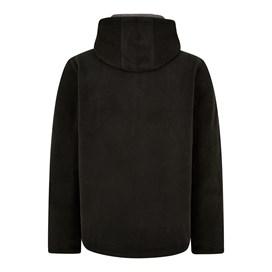 Gervase 1/4 Zip Soft Knit Hoodie Washed Black