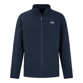 Navan Quilted Micro Fleece Zip Maritime Blue