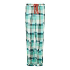 Salma Check Twill Loungewear Pant Aqua Marine