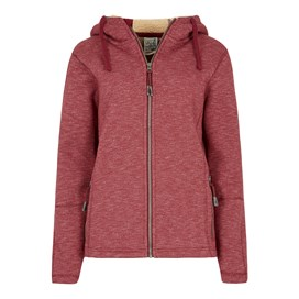 Jasmine Bonded Marled Fleece Hoody Winter Berry