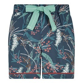 Bedford Printed Loungewear Short Deep Sea Blue
