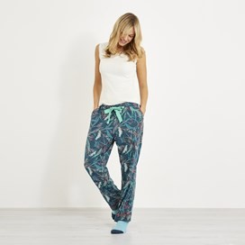 Lottie Printed Loungewear Pant Deep Sea Blue