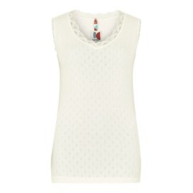 Jemima Pointelle Lounge Vest Light Cream