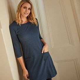 Starburst Jersey Dress Navy Marl