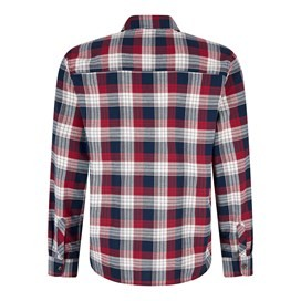 Griffin Long Sleeve Check Shirt Oxblood