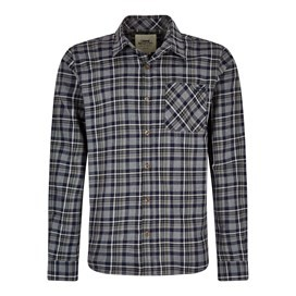 Griffin Long Sleeve Check Shirt Black Iris
