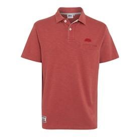 Nuno Slub Polo Shirt Brick Red