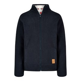 Marella Stripe Fur Lined Big Mac Dark Navy