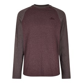 Askill Long Sleeve T-Shirt Oxblood Red Marl