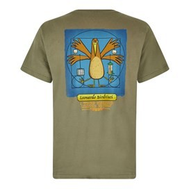 Bird Vinci Artist T-Shirt Khaki Green