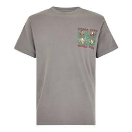Beard Fish Artist T-Shirt Steel Grey