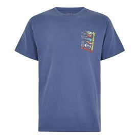 Sling Your Hook Artist T-Shirt Blue Indigo