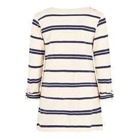 Chrissy Striped Cotton T-Shirt Dark Navy