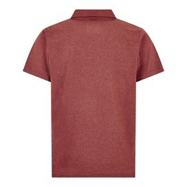 Quay Branded Polo Shirt Dark Red Marl
