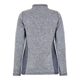 Sia 1/4 Zip Melange Soft Knit Dark Navy