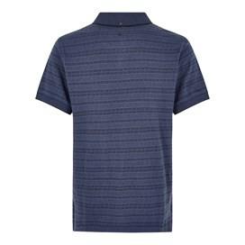 Baskin Jacquard Striped Polo Shirt Dark Navy
