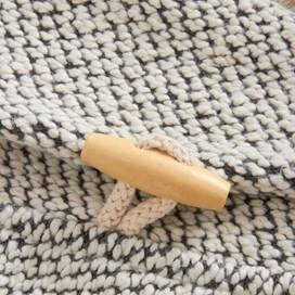 Belem Macaroni Shawl Collar Sweatshirt Ecru