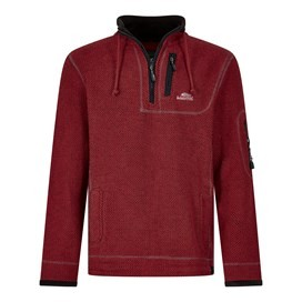 Parkway 1/4 Zip Tech Macaroni Retro Red