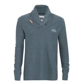 Belem Macaroni Shawl Collar Sweatshirt Blue Mirage