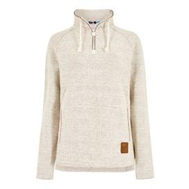 Geranium 1/4 Zip Classic Macaroni Sweatshirt Ecru