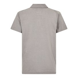 Quay Branded Polo Shirt Steel Grey Marl