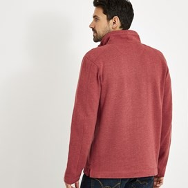 Knock 1/4 Zip Branded Fleece Retro Red