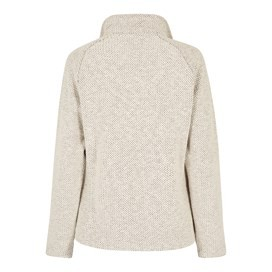 Holly Full Zip Classic Macaroni Sweatshirt Ecru