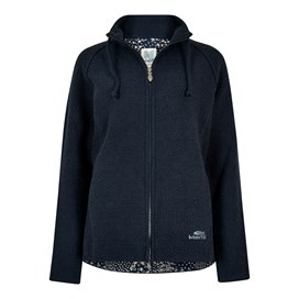 Holly Full Zip Classic Macaroni Sweatshirt Dark Navy