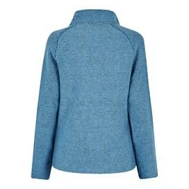 Holly Full Zip Classic Macaroni Sweatshirt Cool Blue