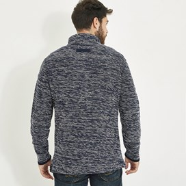 Flynn 1/4 Zip Nepp Macaroni Sweatshirt Dark Navy