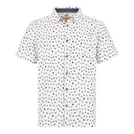 Milbay Print Cotton Short Sleeve Shirt Dusty White