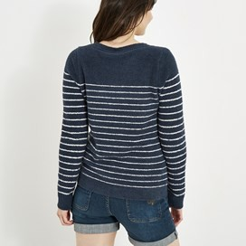 Vivi Striped Jumper Dark Navy