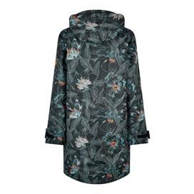 Cosmo Printed Waterproof Jacket Washed Black