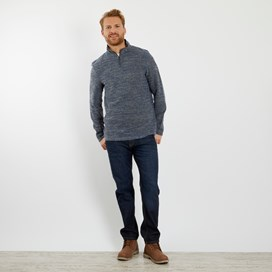 Galvin 1/4 Zip Active Macaroni Sweatshirt Blue Indigo