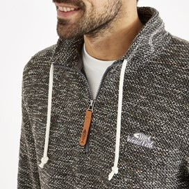 Flynn 1/4 Zip Macaroni Sweatshirt Steel Grey