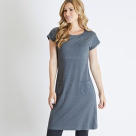 Talia Plain Jersey Dress Twilight Marl