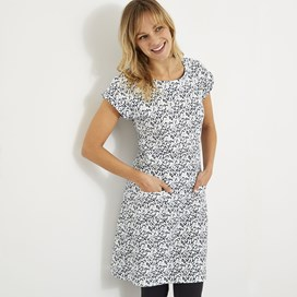 Tallahassee Printed Jersey Dress Dark Navy