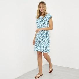 Tallahassee Printed Jersey Dress Light Cream