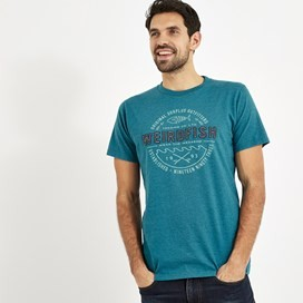 Surplus Applique T-Shirt Harbour Blue Marl