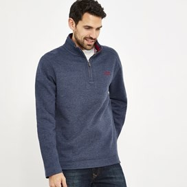 Knock 1/4 Zip Branded Fleece Dark Navy