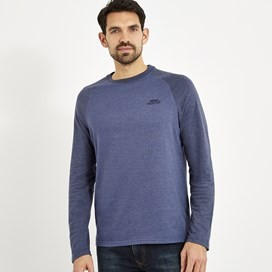 Askill Long Sleeve Jersey T-Shirt Blue Indigo Marl