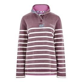 Hansley 1/4 Neck Striped Sweatshirt Purple Potion