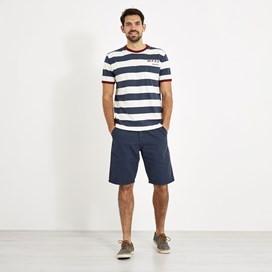 Walt Striped Slub T-Shirt Dark Navy