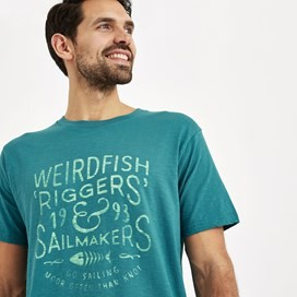 Riggers Branded Graphic T-Shirt Harbour Blue