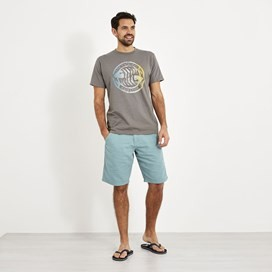 Summer Surf Branded Print T-Shirt Steel Grey Marl