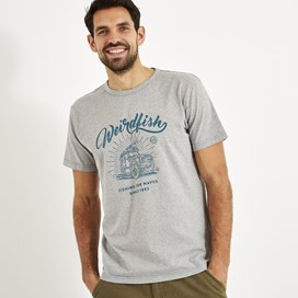 Surf School Branded Print T-Shirt Grey Marl