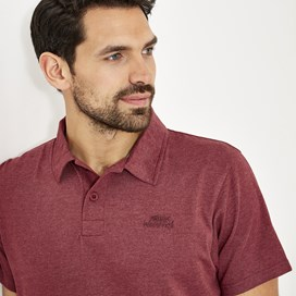 Quay Branded Polo Shirt Dark Red Marl